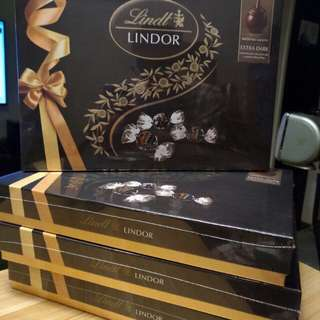 全新未開lindt LINDOR 流心黑朱古力禮盒裝