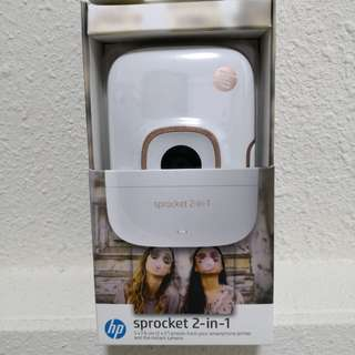 Brand New HP sprocket 2 in 1 Camera and Printer