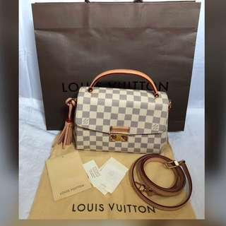 Authentic Louis Vuitton Croisette Damier Azur