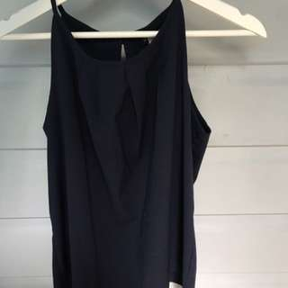 Navy top size 8