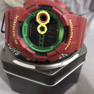Authentic G-Shock GD100 Rasta Limited Edition