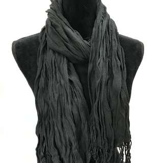 CUTE Black Stole Scarf with Tassels