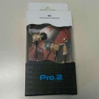 PRO.2木質耳道式耳機W2楓木 耳筒 Earphone