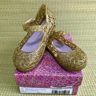 BN Mini Melissa Campana Zigzag VI Gold Glitter / Violet Shoes US9