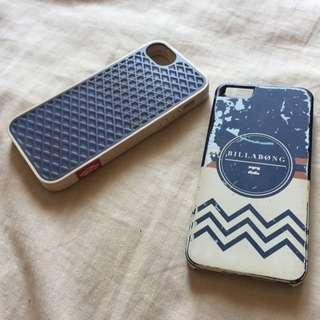 Vans and Billabong iPhone 5 cases $10 each