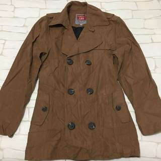 Company brown trench jacket with belt (actual size M)