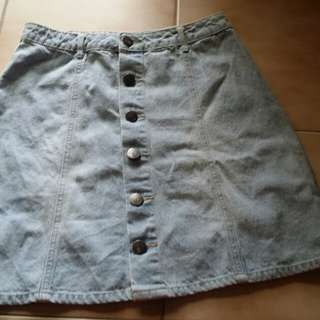 New, denim skirt