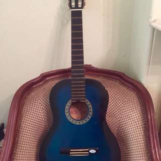 Valencia acoustic guitar TC14BUS blue