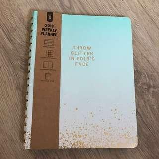 Typo 2018 Glitter Splatter Weekly Planner