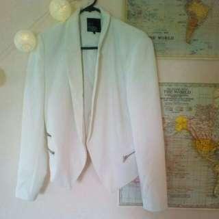 White Jacket / Blazer Size 10/12