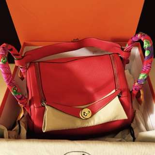 Hermes Lindy 30 Rouge Tomate