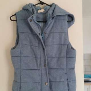 Vest with removable hood, never worn