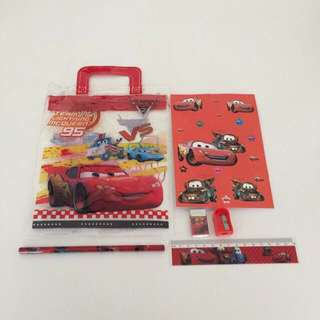 Birthday Party Gifts: Cars Stationery Bag Set