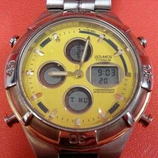 ULTIMOS 鈦合金計時电子錶