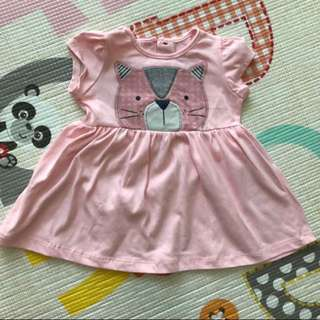 Hush Hush Pink Cat Dress (6-9M)