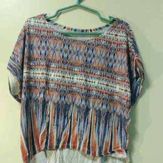Azetch Print Loose Blouse