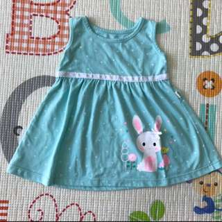 BeBe Blue Bunny Dress (6-9M)