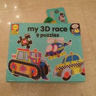 Cheap Kids Toy/Game: My 3D Race Puzzle - Alex Little Hands
