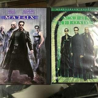 DVD Matrix & Matrix Reloaded
