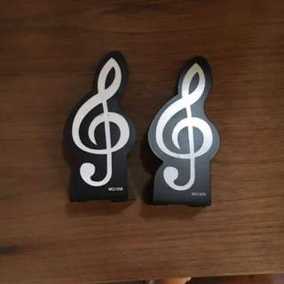 Treble clef G Clef Bookends