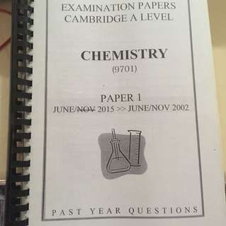 CIE A LEVEL CHEMISTRY