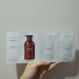 Innisfree shampoo sample