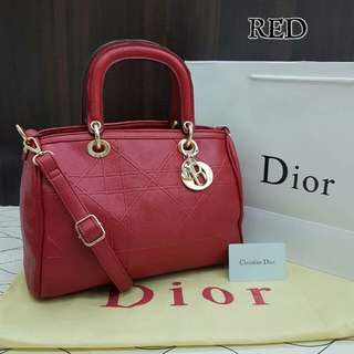 Dior Grandville Polochon Red Bag