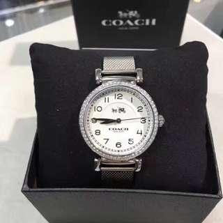 終於等到了![流泪]真的好美![色]時尚大牌-COACH(蔻馳). 石英女錶 32mm錶盤✨閃亮水晶 編織鋼帶 生活防水.