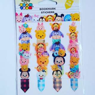 Winnie the Pooh and Friends tsumtsum Bookmark stickers