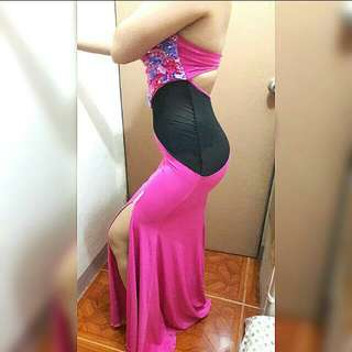 REPRICED! Pink long gown