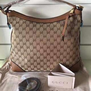 GUCCI GG CANVAS SHOULDER/CROSSBODY BAG