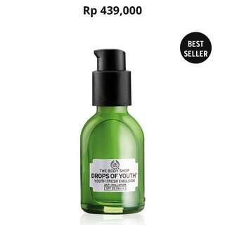 The Body Shop Drop Of Youth Youth Fresh Emulsion Anti Pollution SPF 20 PA+++