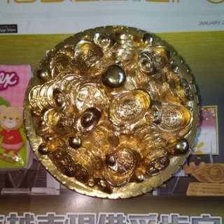 黄銅陶瓷聚寶盤