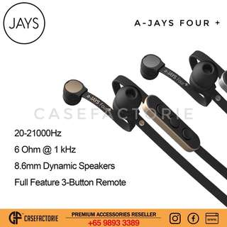 JAYS a-JAYS Four + In-Ear Headphones Earphones