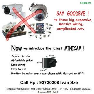 CCTV Mini Ip Camera with WiFi networks connection to mobile phone Apps