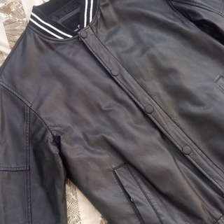 People R Peope Black Varsity Jacket
