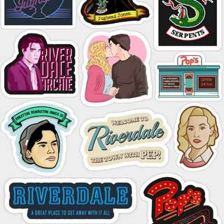 Sticker riverdale vinyl laminated
