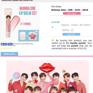 WANNA ONE FULL SET LIPBALM