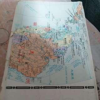 二手世界地圖