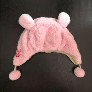 Winter pink hat