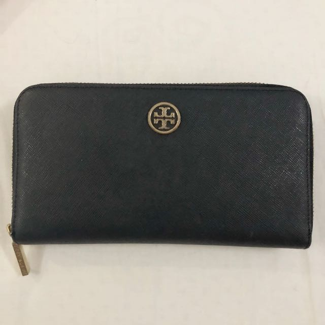 100% original tory burch black wallet