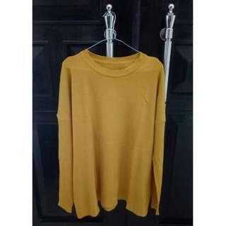 Sweater boxy mustard