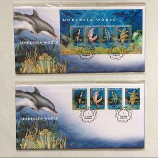 FDC First Day Cover - Singapore 2006 - Undersea World Miniature Sheet & Stamp (Set of 2 Covers)