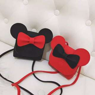 Little Minnie Sling Bag - DST541  Color: as attach photo  Size: 10*11*5cm