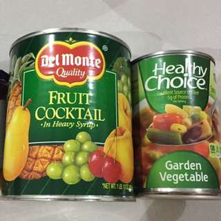 Canned goods fruit and vegestable
