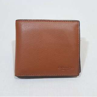 NEW COACH BIFOLD WITH ADDITIONAL POCKET