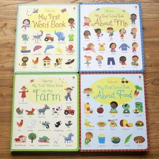 Usborne my first word book series (4 books)
