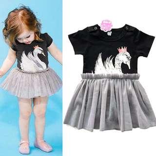 Cotton tutu mesh dress