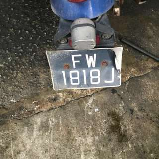 Rare Number Plate for Sale
