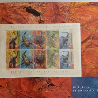 📮93年 澳洲古代生物郵票
